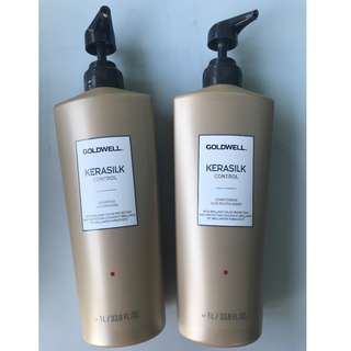 Goldwell Kerasilk Shampoo (1 Litre) and Conditioner (1 Litre)