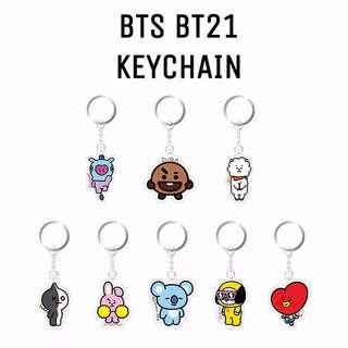 🚚 Instock BTS BT21 Acrylic Keychain