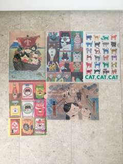 Cat A4 Plastic Folders From Japan