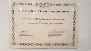 piano tuning courses/ classes.