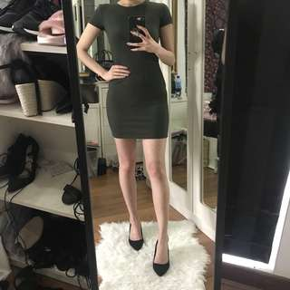 Forever 21 Cut Out Back Bodycon Dress