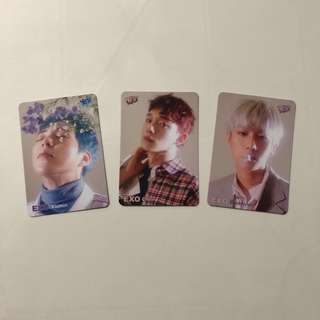 EXO CBX Yes! Card 第34期 白卡