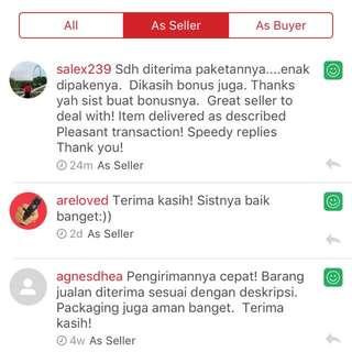 Updated Feedback as seller