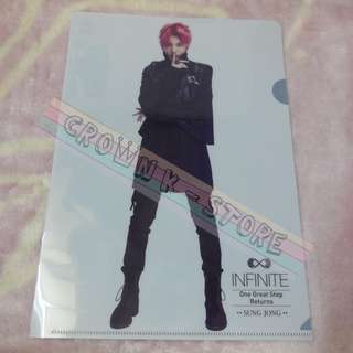 [CRAZY DEAL 90% OFF FROM ORIGINAL PRICE][READY STOCK]INFINITE SUNGJONG KOREA CONCERT OFFICIAL A4 SIZE FILE 1PC!ORIGINAL FR KOREA (PRICE NOT INCLUDE POSTAGE)PLEASE READ DETAILS FOR MORE INFO; POSLAJU:PENINSULAR AREA :RM10/SABAH SARAWAK AREA: RM15