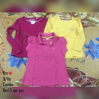 T Shirt combo 3pcs