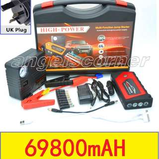 69800mAh Car Jump Jumper Starter Laptop Power Bank with Airpump