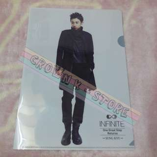 [CRAZY DEAL 90% OFF FROM ORIGINAL PRICE][READY STOCK]INFINITE SUNGGYU KOREA CONCERT OFFICIAL A4 SIZE FILE 1PC!ORIGINAL FR KOREA (PRICE NOT INCLUDE POSTAGE)PLEASE READ DETAILS FOR MORE INFO; POSLAJU:PENINSULAR AREA :RM10/SABAH SARAWAK AREA: RM15