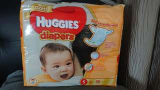 Huggies gold S diapers new