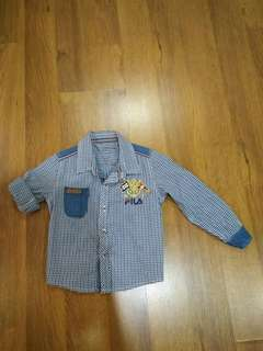 Authetic fila boy long sleeve top (For 2 - 3 year old)