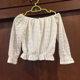 Off Shoulder Lace Blouse
