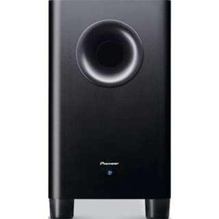 Pioneer【S-21W】主動式超低音揚聲器 兼顧音質的外觀設計 衝勁十足的超低音效果