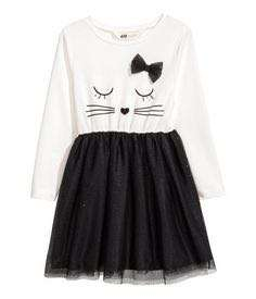 H&M white kitty dress