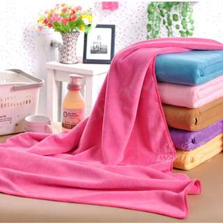 High Quality Absorbent Soft Plain Colour Thick Microfiber Bath Towel 140cmX70cm