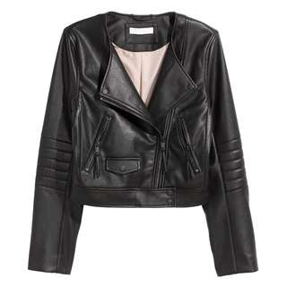h&m short biker jacket