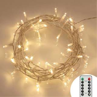 745. Koopower [Remote and Timer] 29.5ft 80 LED Outdoor Battery Fairy Lights (8 Modes, Dimmable, IP65 Waterproof, Warm White)