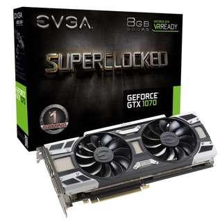 GTX 1070 EVGA SC 8GB