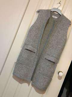 Grey cardigan vest