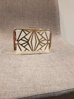Colette gold abd cream clutch