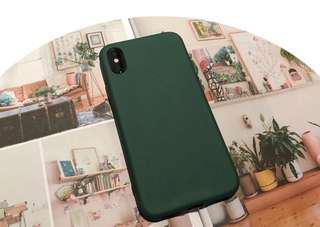 Iphone X plain green colour