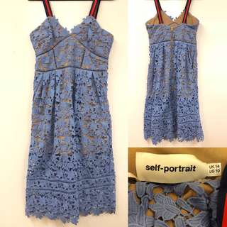 吊帶裙 Self-portrait blue dress size US 10