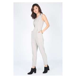 Love Bonito NEW Grey Jumpsuit Size L