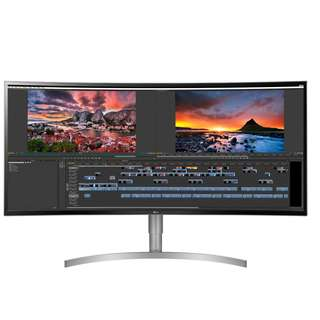"LG 38WK95C-W   37.5"" Curved UltraWide QHD+ HDR 10 IPS Display -USB Type-C x1 , Display Port x1, HDMI x2, Rich Bass, 10Wx2 Stereo Speaker (Bluetooth) 38"" 38WK95C 38WK95 38WK95 38WK95C W AHK"