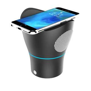 Buy new 3 in 1 Wireless BT speaker (Wireless charger + stereo music and audio sound, + phone holder)
