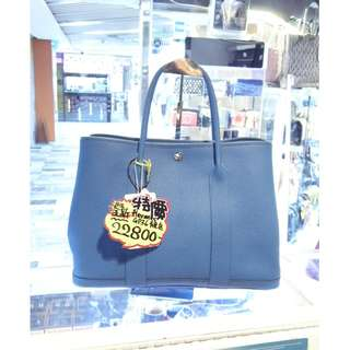 Hermes Blue Togo Leather Garden Party 36cm GP36 Shoulder Handbag Hand Bag 愛馬仕 藍色 牛皮 皮革 經典款 花園派對 36公分 手挽袋 手袋 肩袋 袋