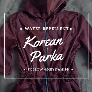 Water Repellent Parka - Korean Jacket