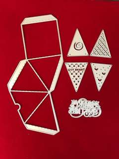 Pyramid shape box scrapbook Cutting Dies