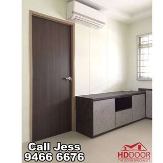 HDDoor the laminate bedroom door with lever handle lock