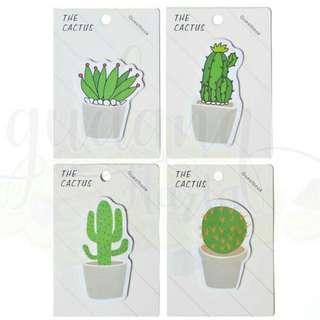 Sticky note cactus