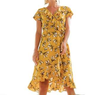 [PO] Floral Ruffle Dress