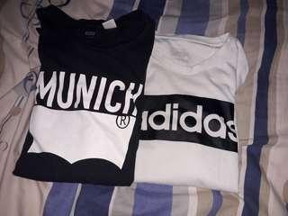 adidas、levis短袖t恤