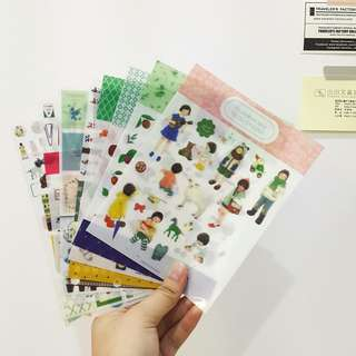 Used Sticker Sheets (9 sheets)