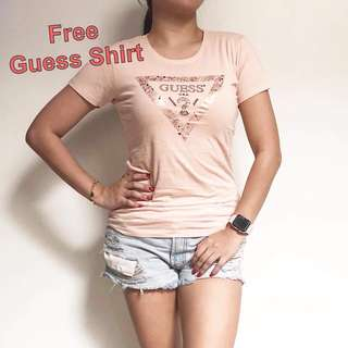 Guess bag with free shirt- many colors