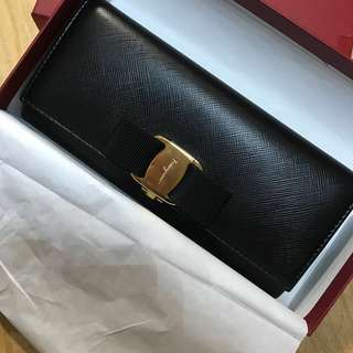 (全新100%new)Salvatore Ferragamo 銀包