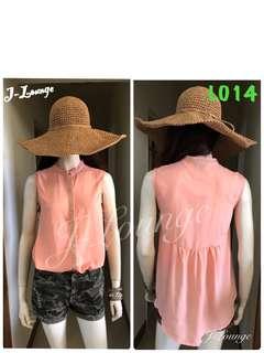 🚚 L014全新H&M粉橘bling名媛urban chic 無袖襯衫上衣shirt J-Lounge