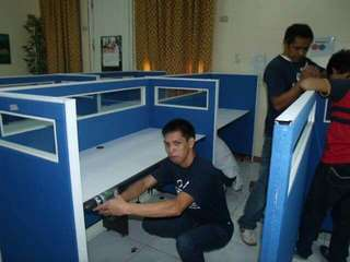 Repair,install and dismantle partition,divider,counter,table