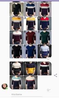 Knitted long sleeve for men
