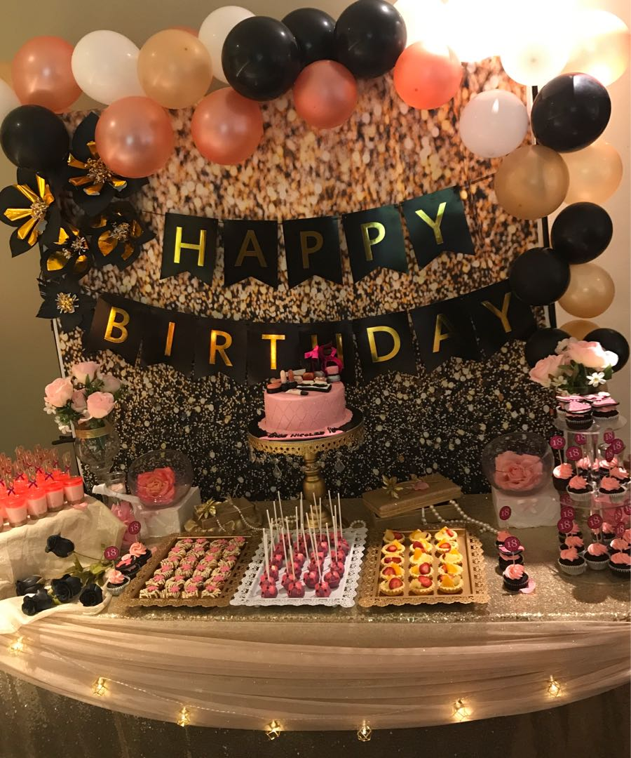 18th Birthday Dessert Table Food Drinks Baked Goods On Carousell