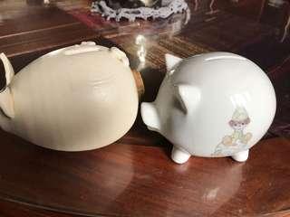 Piggy bank porcelain 2 for 180