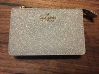 銀色 Kate Spade card holder/ 散子包