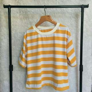 Korean Oversized Tee Stripes
