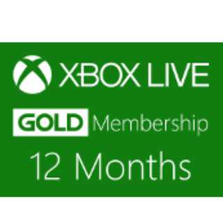 🚚 XBOX ONE LIVE GOLD MEMBERSHIP 12 MONTHS