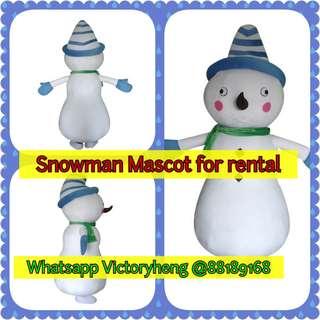 Snowman Mascot for rental