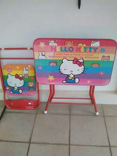 Hello kitty child table & chair set