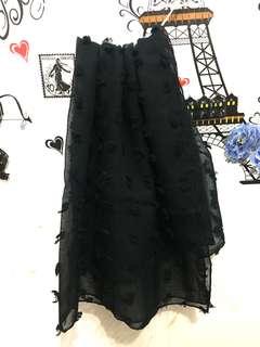 Hijab rubiah segi4 hitam