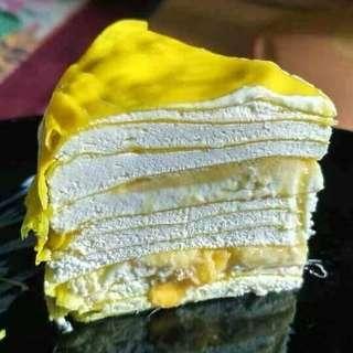 Durian cake & durian creepe
