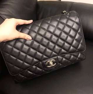 Authentic Chanel Maxi Caviar
